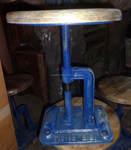 Industrial Stool Vintage Blue color
