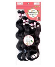 "100% HUMAN VIRGIN Brazilian HAIR 6pcs(18""(2)+20""(2)+22""(2)) Bundle Vergin Remi hairs+1pc Top Closure(18"")-NATURAL BLACK"