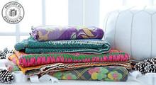 Vintage Kantha Quilt Handstiched Kantha Work Bed Cover Throw Blanket Bedding GUDARI Wholesale Lot 3 piece