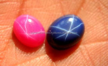 AAA Quality Natural Ruby & Sapphire Star Oval Smooth Cabochon Loose Gemstone
