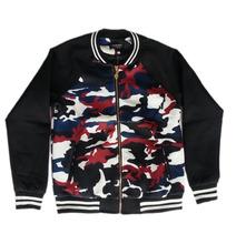 Women's Camouflage Printed Zipper Baseball Jacket Banded Collar Bomber Jacket/new bomber jacket/camouflage baseball bombe jacket