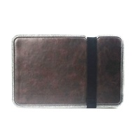 Wholesale Christmas Gift PU Leather Wool Felt Pouch Cover for Macbook Pro / Air 13.3 inch, Size: 33 x 23cm - Purple