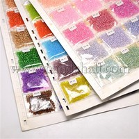 24Bag/Board Mixed Color 8/0 Glass Seed Beads, Mixed Color, 3mm, Hole: 0.8~1mm; about 24bags/board