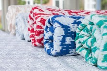 Ikat Hand Block Fabric made Cotton Quilts printed fabric Manufacturer from Jaipur