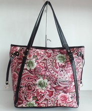 India hot sell 2015 new design print flower PVC purse bag hot sell in India