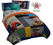 Digital Print Baby Bed Sheet And Pillow Cover - Set Of 2