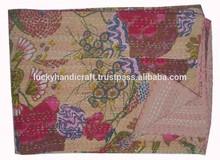 Atacado fruit imprimir kantha colcha kantha lençol 100% algodão tecido colcha throw blanket