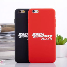 Soft Silicone for Fast and Furious7 Frosted Phone Case back cover for Apple iphone6 Plus