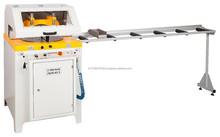 Up-cutting Aluminium & PVC Mitre Saw,Spray-mist blade lubricator, 420mm, 400V, 2m roller conveyor included