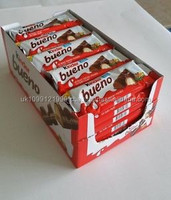 Ferrero Kinder Bueno 3 X 43g Chocalate Bars With Milk And Hazelnut