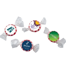 Individually Wrapped Starlite Breath Mints - great for trade shows and come with your 4-color process laminated decal.