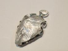 Raw Natural Arrowhead Crystal Quartz pendant