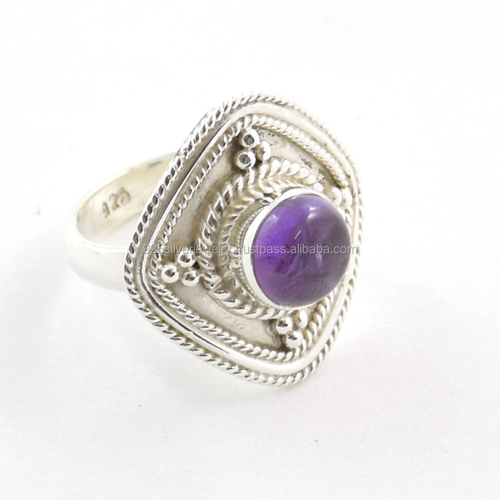 wholesale sterling silver rings jewellery purple amethyst