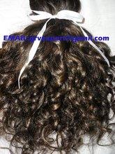 Bonne rétroaction boucle frisée brésilienne vierge de cheveux gros