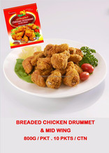 BREADED CHICKEN DRUMMET & MID WING