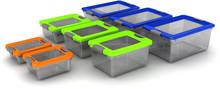 Plastic Storage Box 7, 10, 14, 23, 32, 35, 50 & 65 liters bicolor lid / Organizer 7 - 65 liters