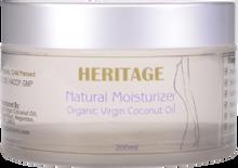 Virgin Coconut Oil Natural Moisturiser - (200 ml Frosted Cosmetic Glass Jar)
