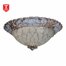 high power Round Glass traditional Ceiling Light