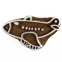 Indian Wooden Textile Stamps Wood Printing Block Airplane Stamp Decorative Block PB1603