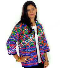 Indian embroidered jackets- Indian Handmade ladies jacket-Wholesale Kutch embroidery jacket-kutch handicrafts