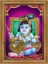 Lord Krishna - Tanjore Paintings Poster