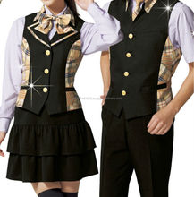 High quality red plaid skirt uniform with quick delivery