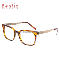 2015 Fashion Acetate & Metal temple glasses frame_Benfix-BFMC408