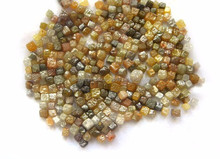 Natural Mix Colour Diamond Cube Plain Loose Gemstone