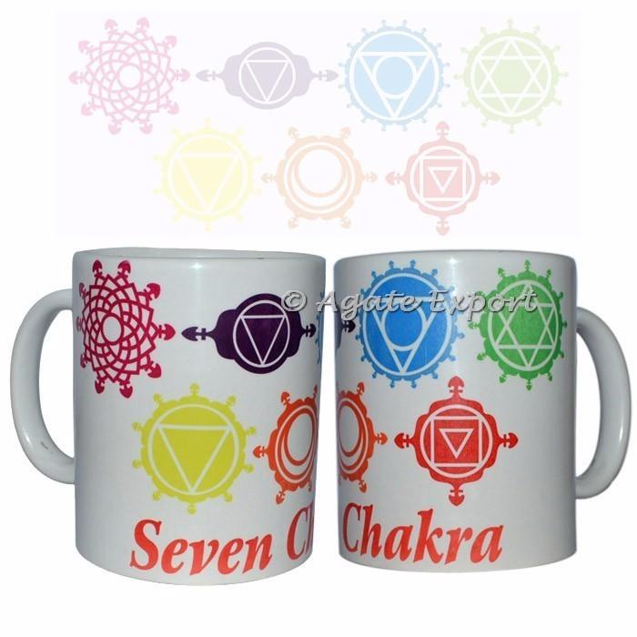Caneca de Café dos sete Chakras: Online Hot Estilo Chakra canecas Impressas