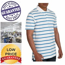 man pique stripe polo/16 compliance factories / BANGLADESH manufacturing cost is lowest in ASIA
