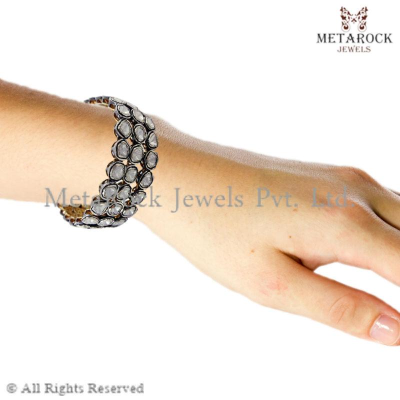 Bangle Bracelets Wholesale Wholesale Rose Cut Bracelet