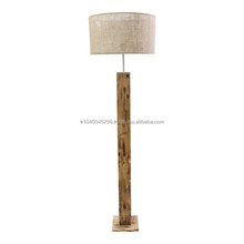 Handcrafted Wood Floor Lamp, Rectangular, Minimal (handmade wooden lamp from natural solid hard wood)