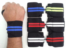 Weight lifting Elastic heavy duty gym stretchable Wrist Wraps support with logo