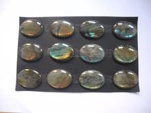China Made Natural Labradorite 30x40mm Oval Cabochon Loose Gemstone