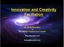 Two hours of Innovation and Creativity Facilitation online, via Skype