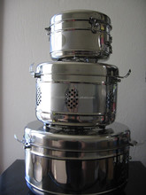 A SET OF 7, 9, 12 Medical Stainless Steel Sterilization