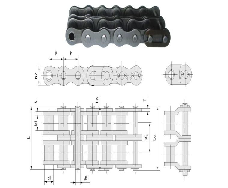 Сельскохозяйственная техника части бесплатный образец двухрядные ручной стандарт природа или синий роликовые цепи 06b-2