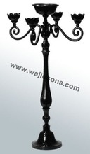 Black Candelabra centerpieces by Wajidsons Corporation