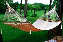 Premium Hammock with Wooden Spreader Bar