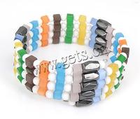 Cats Eye Bracelets Porcelain with Cats Eye & Magnetic Hematite 4-8mm Sold Per Approx 28 Inch Strand