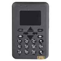 Mini Supper Slim M1 Card Cell Phone with Position Function for Child - Black