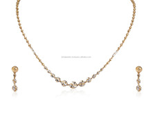 CHAIN NECKLACE EARRINGS FINE JEWELERY SET IN SOLID BIS HALLMARK 22KT YELLOW GOLD
