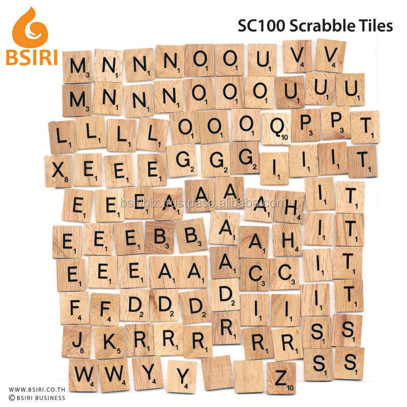 Wooden Scrabble Tiles Board Game
