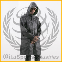 Men's cheap polyester water proof wind proof rain jacket