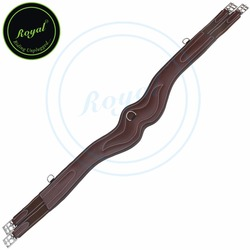 Royal Wave Over Lay Girth/Brown Elastic Grey & Maroon Lines-Oak brown-120 cm-SS.