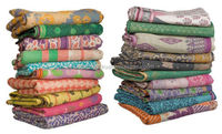 Vintage Kantha quilt Hand Stitching Indian Reversible Quilts Wholesale Lot Pure Cotton Kantha Quilt / Blanket / Throw Bedspread