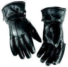 Men's Heavy Duty Leather Black Motorbike Motorcycle Biker Gloves