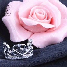 Noble Crown Ring s925 Sterling Silver Princess Crown Ring Jewelry Wholesale Supply