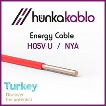 PVC Insulated Electric Cable H07V-U NYA Turkish Manufacturer