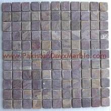 Kitchen Back Onyx Tumbled mosaic tiles